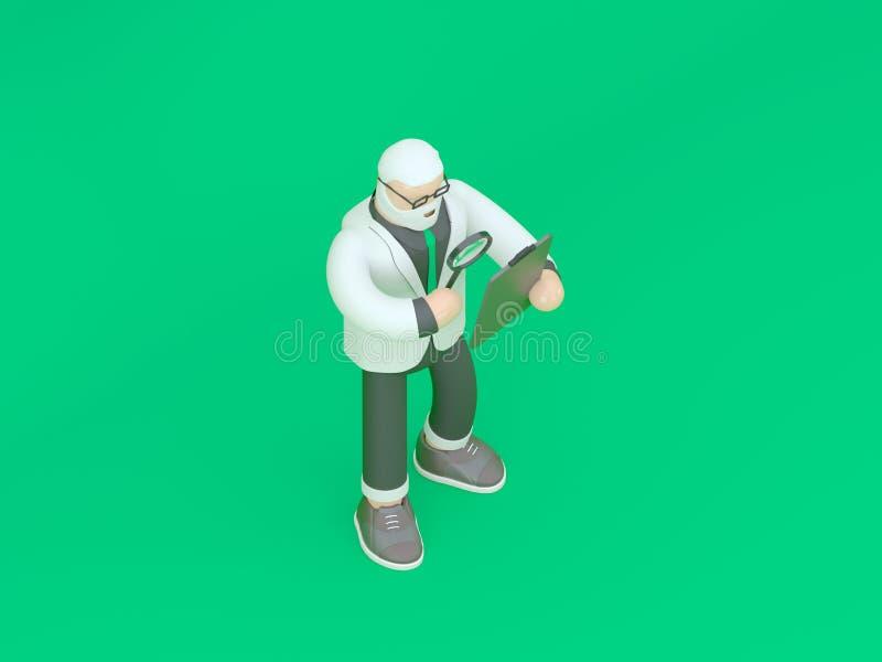 Hombre de negocios en traje Concepto 3d de la innovación y de la inspiración rendir el ejemplo fotografía de archivo libre de regalías