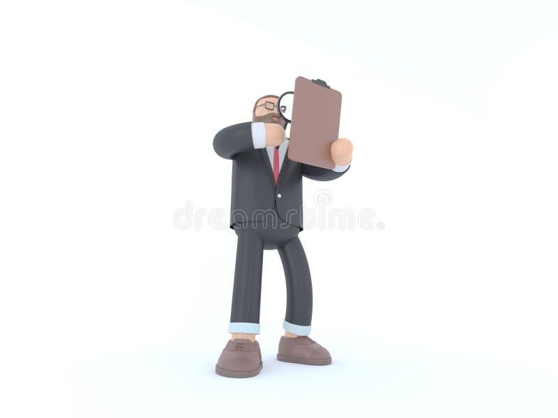 Hombre de negocios en traje Concepto 3d de la innovación y de la inspiración rendir el ejemplo imágenes de archivo libres de regalías