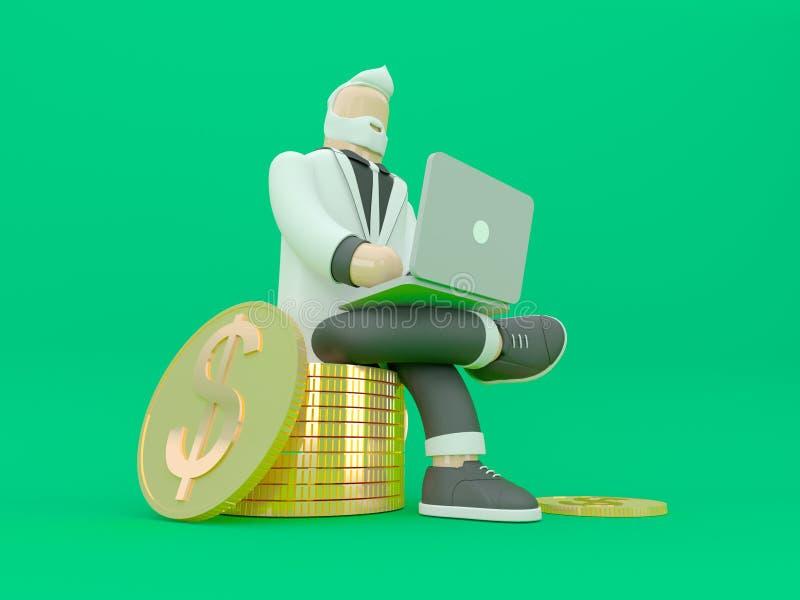 Hombre de negocios en traje Concepto 3d de la innovación y de la inspiración rendir el ejemplo fotos de archivo libres de regalías