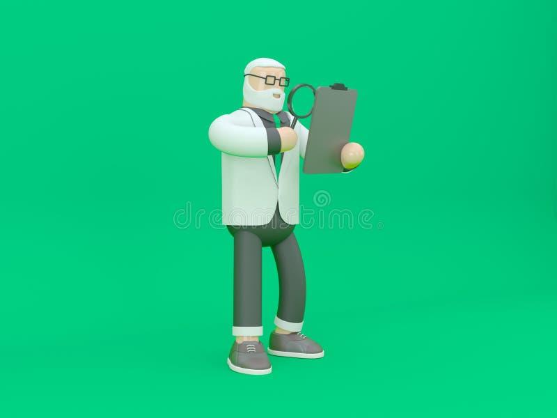 Hombre de negocios en traje Concepto 3d de la innovación y de la inspiración rendir el ejemplo imagen de archivo libre de regalías