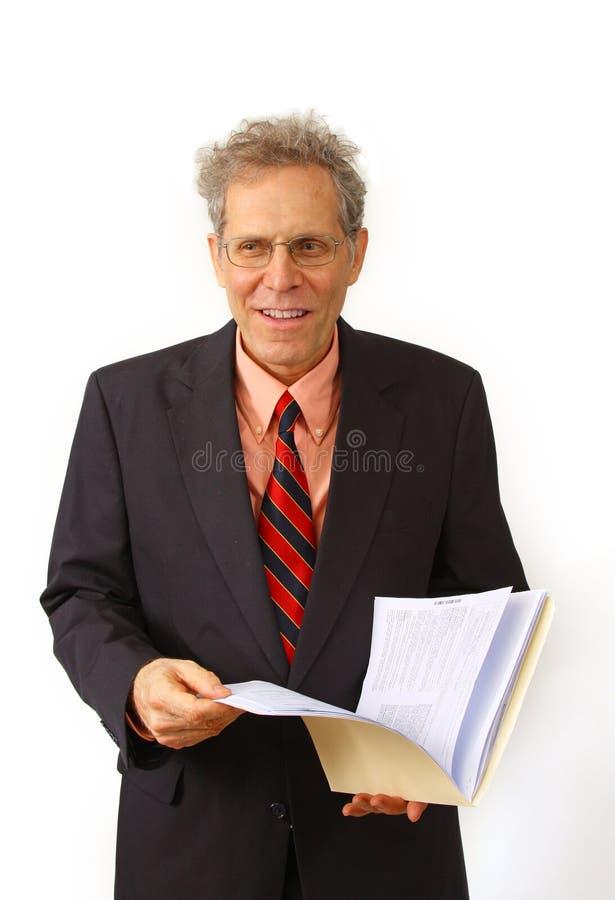 Hombre de negocios en un juego imagen de archivo