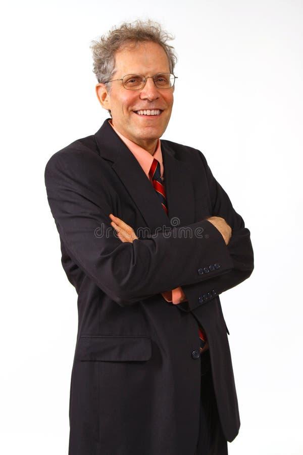 Hombre de negocios en un juego fotografía de archivo libre de regalías