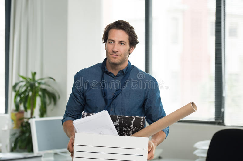 Hombre de negocios encendido imágenes de archivo libres de regalías