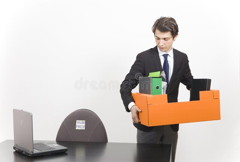 Hombre de negocios encendido fotos de archivo libres de regalías