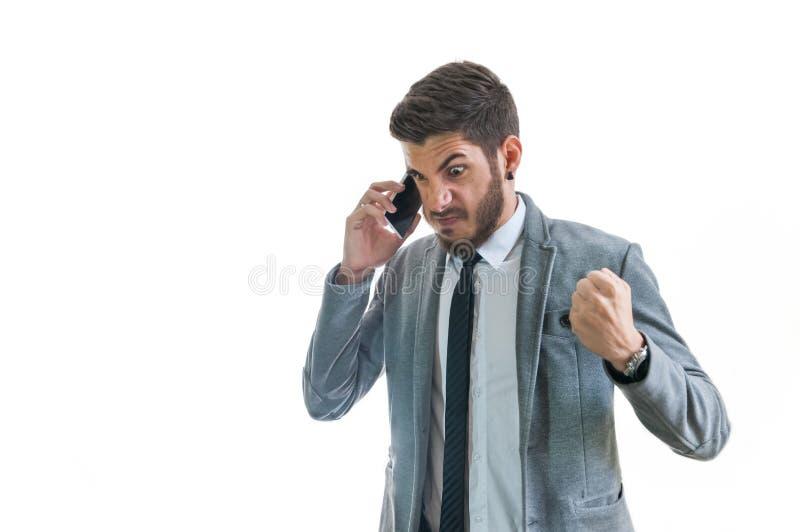 Download Hombre de negocios enojado foto de archivo. Imagen de protuberancia - 44857166