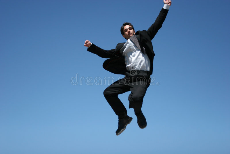 Hombre de negocios extático fotografía de archivo libre de regalías