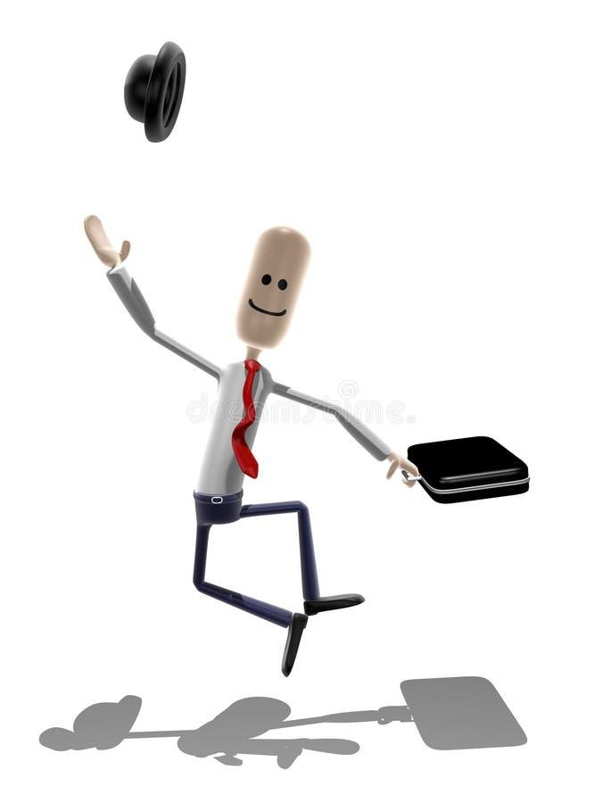 Hombre de negocios feliz fotos de archivo
