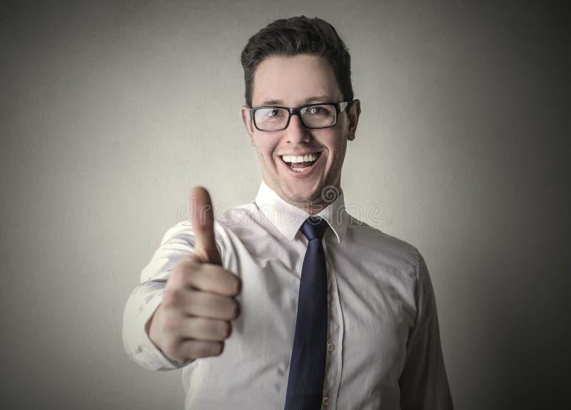 Hombre de negocios feliz foto de archivo