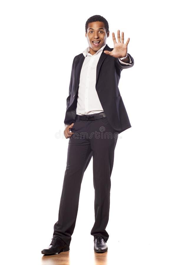 Hombre de negocios feliz imagen de archivo