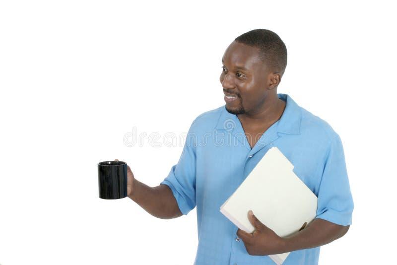 Hombre de negocios feliz en la rotura 2 imagen de archivo