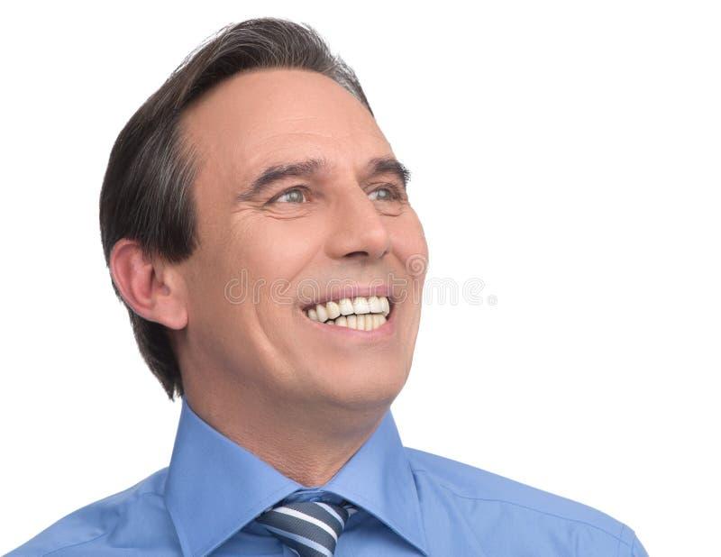 Hombre de negocios feliz. Retrato del smili maduro hermoso del hombre de negocios fotos de archivo
