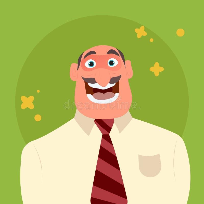 Hombre de negocios feliz y divertido stock de ilustración