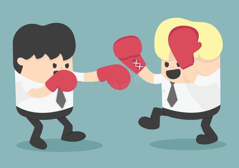 Hombre de negocios Fighting ilustración del vector