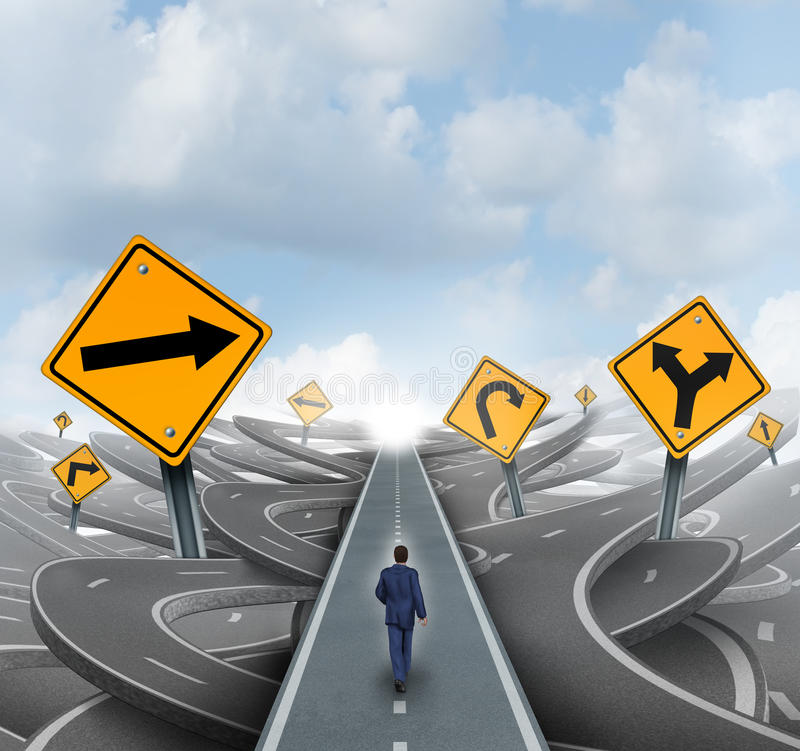 Hombre de negocios Forward Path stock de ilustración