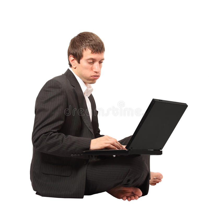 Hombre de negocios frustrado fotos de archivo libres de regalías