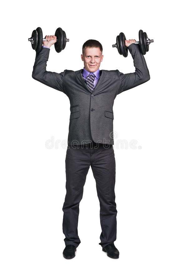 Hombre de negocios fuerte imagen de archivo