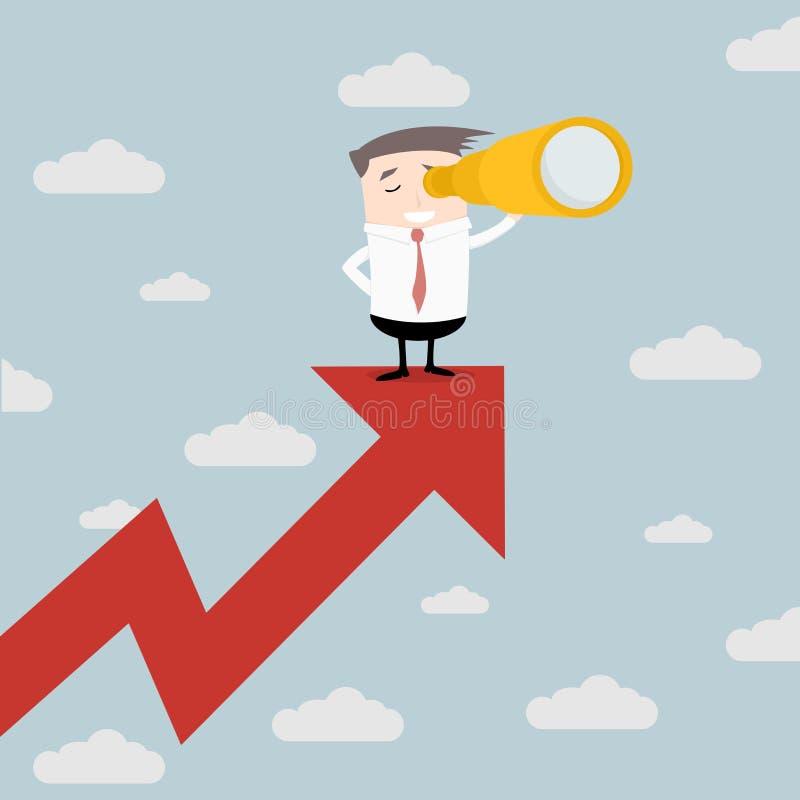 Hombre de negocios Future Trends stock de ilustración