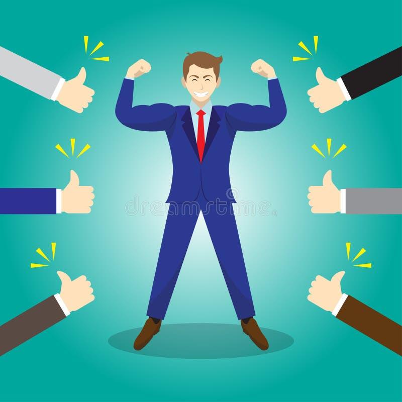 Hombre de negocios Getting Thumbs Up de otros ilustración del vector