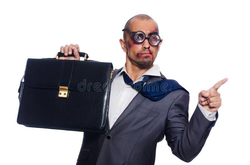 Download Hombre De Negocios Gravemente Batido Aislado Imagen de archivo - Imagen de businessman, cómico: 41916315