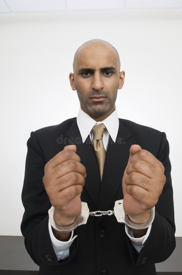 Hombre de negocios With Handcuffs fotografía de archivo libre de regalías