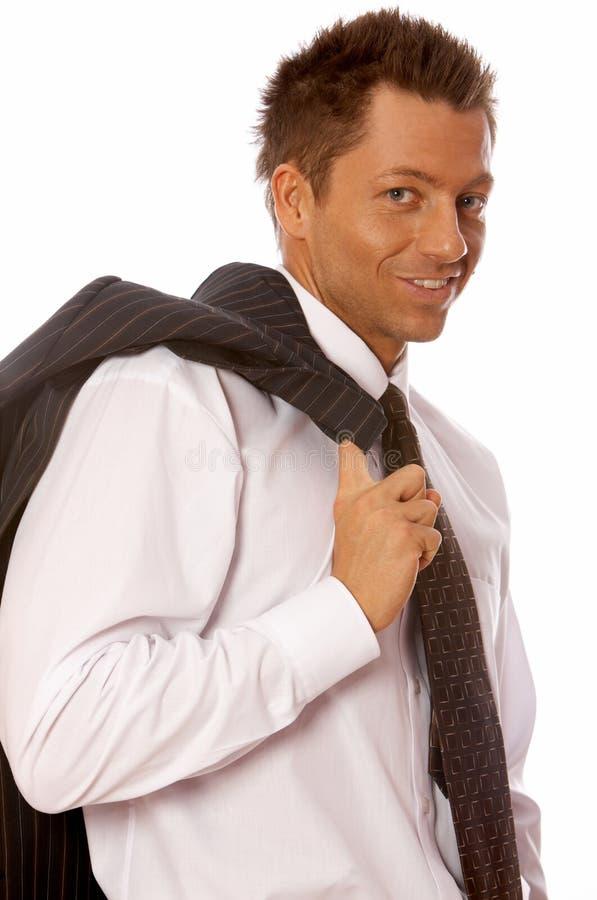Hombre de negocios hermoso fotografía de archivo libre de regalías