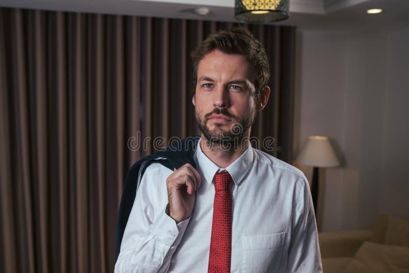Hombre de negocios hermoso fotografía de archivo