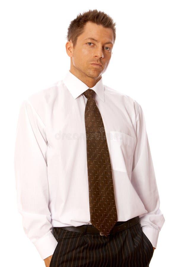 Hombre de negocios hermoso imagenes de archivo
