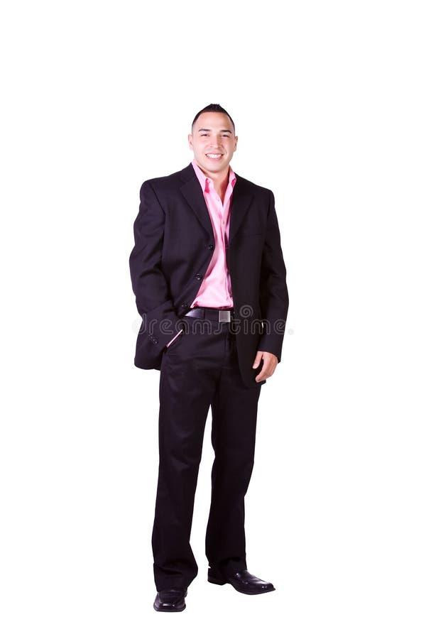 Hombre de negocios hispánico hermoso fotos de archivo