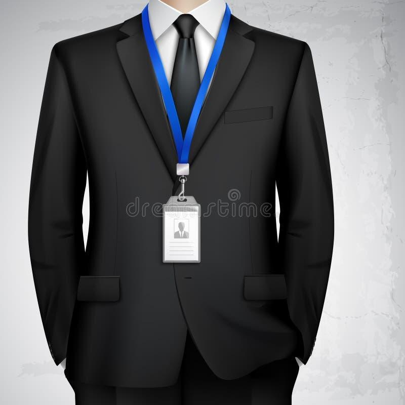Hombre de negocios ID Card Badge Realistic libre illustration