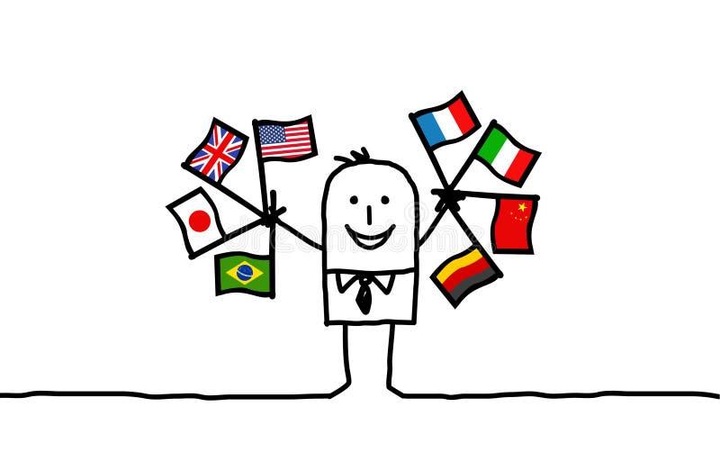 Hombre de negocios internacional stock de ilustración