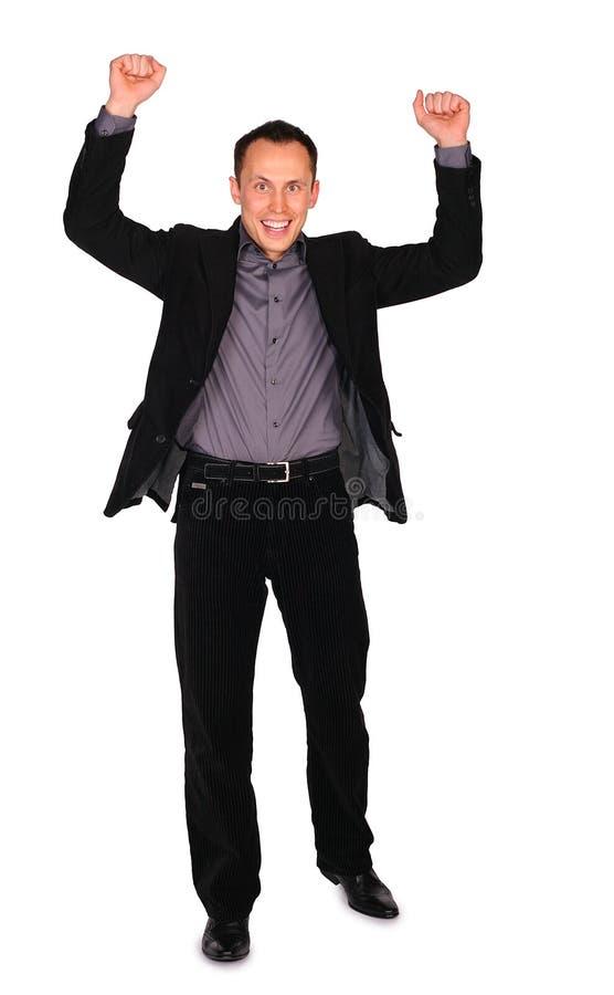 Hombre de negocios joven. ¡Sí! fotos de archivo libres de regalías