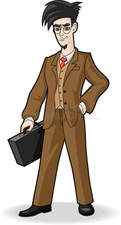 Hombre de negocios joven ilustración del vector