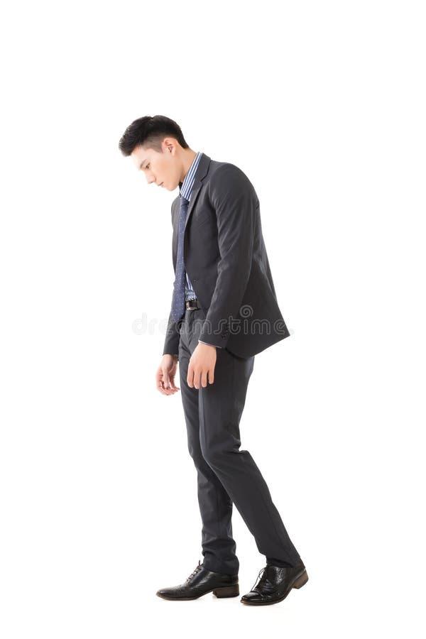 Hombre de negocios joven del pesar fotos de archivo