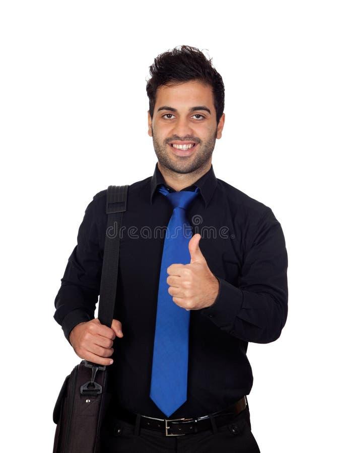 Hombre de negocios joven que dice muy bien imagen de archivo libre de regalías