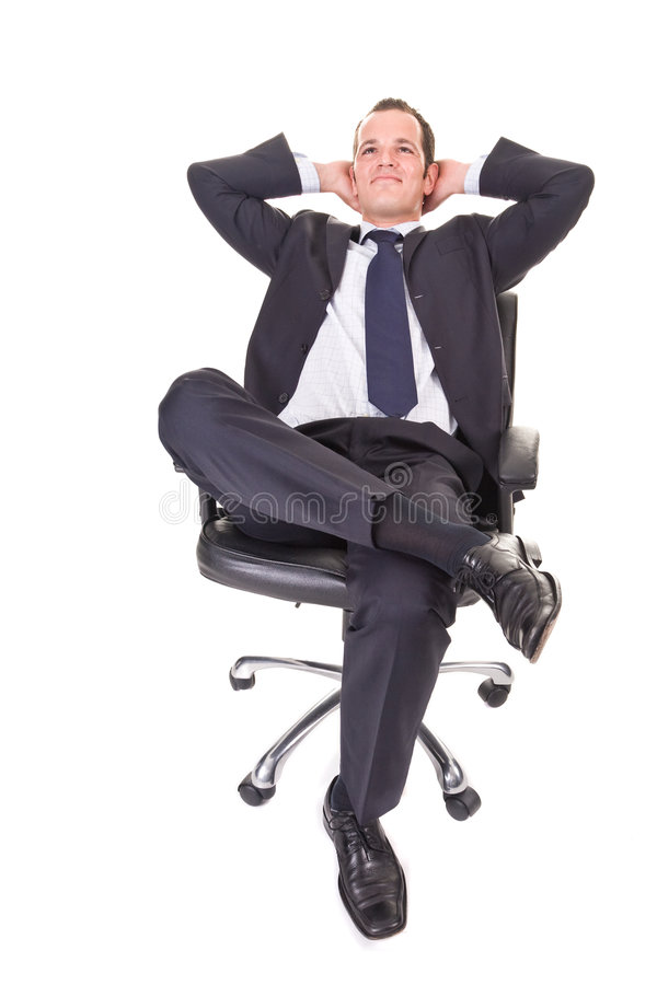 Hombre de negocios joven Relaxed foto de archivo libre de regalías