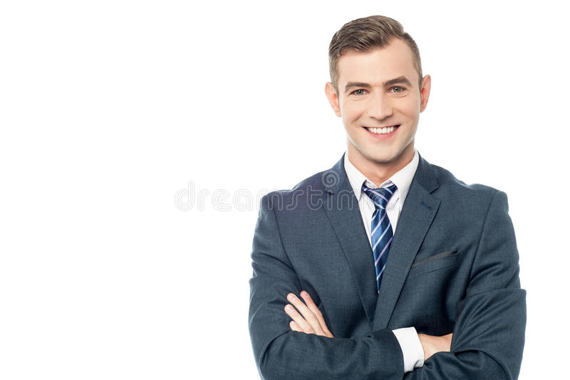 Hombre de negocios joven sonriente foto de archivo