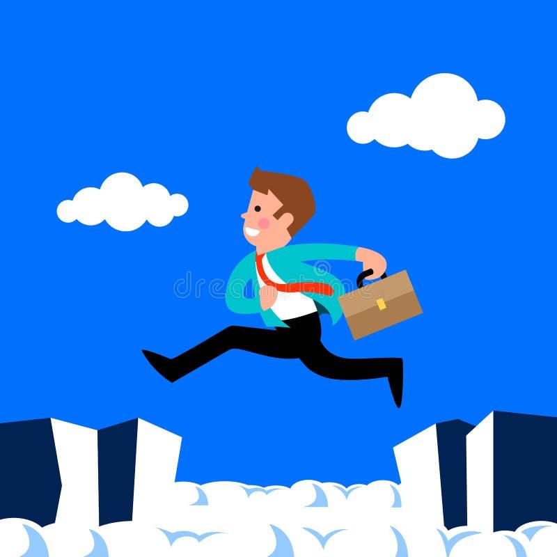 Hombre de negocios Jump ilustración del vector