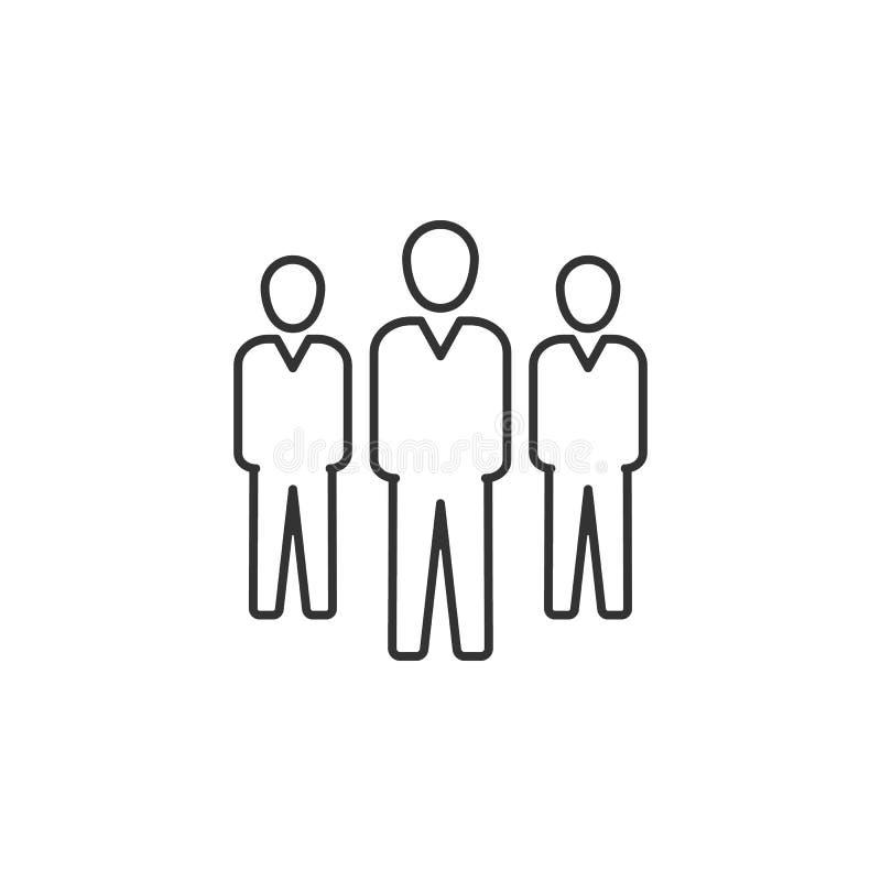 Hombre de negocios, línea icono del grupo Ejemplo plano simple, moderno del vector para el app móvil, sitio web o mesa app libre illustration