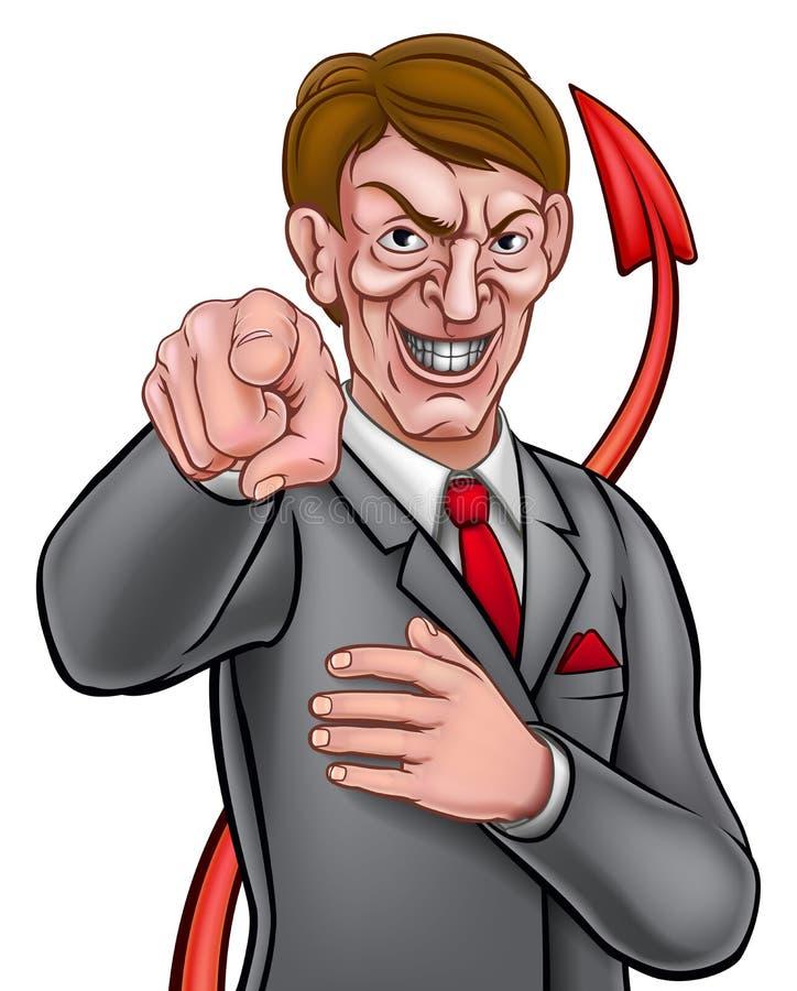 Hombre de negocios de la cola del diablo libre illustration