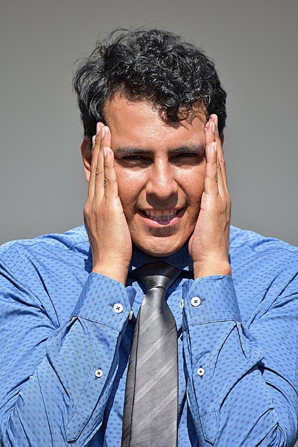 Hombre de negocios Latino feliz fotografía de archivo