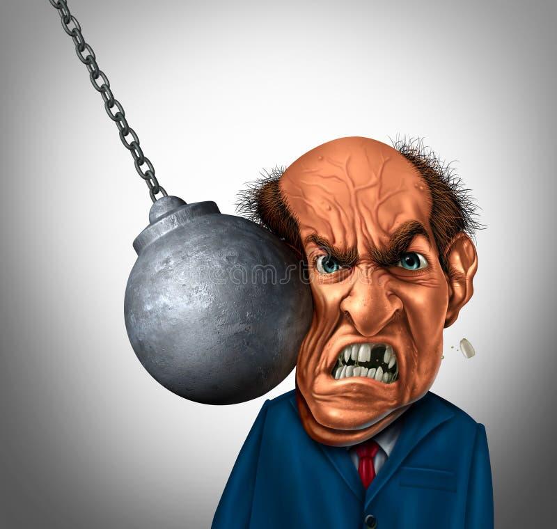 Hombre de negocios machacado ilustración del vector