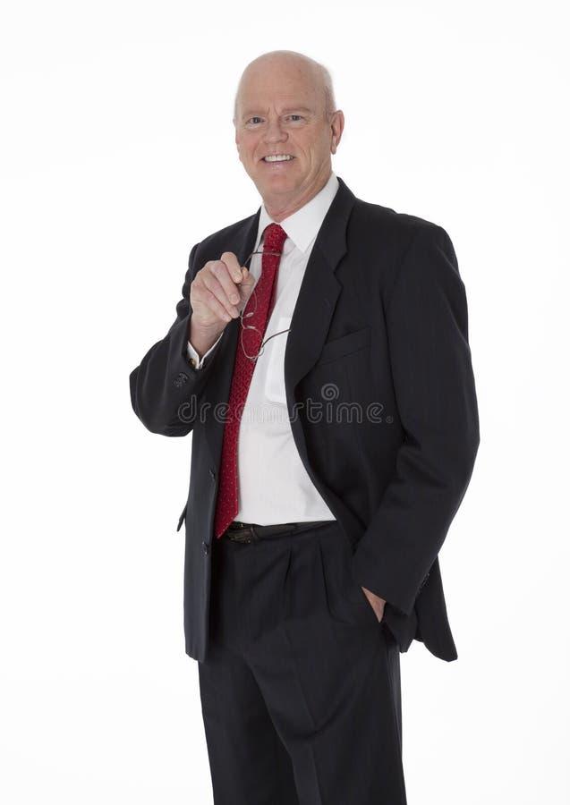 Hombre de negocios maduro alegre foto de archivo