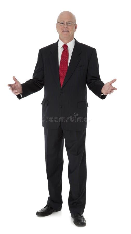 Hombre de negocios maduro en blanco fotografía de archivo libre de regalías