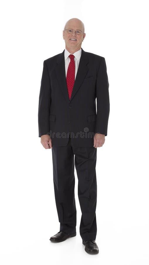 Hombre de negocios maduro en blanco fotos de archivo libres de regalías
