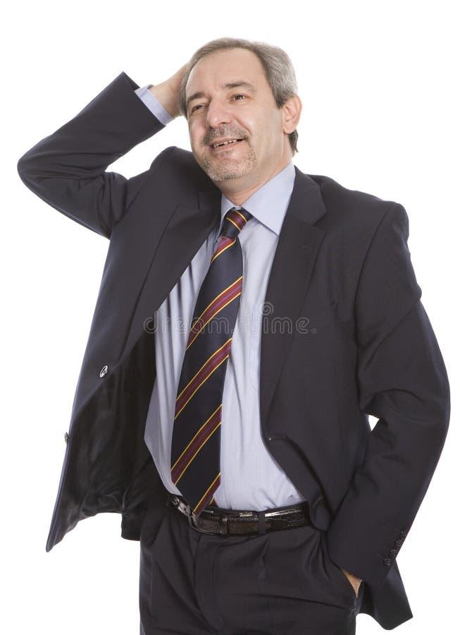 Hombre de negocios maduro feliz fotografía de archivo