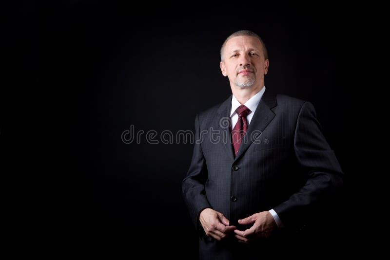 Hombre de negocios maduro sin afeitar fotografía de archivo