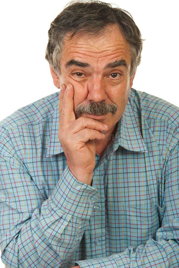 Hombre de negocios maduros serio foto de archivo libre de regalías