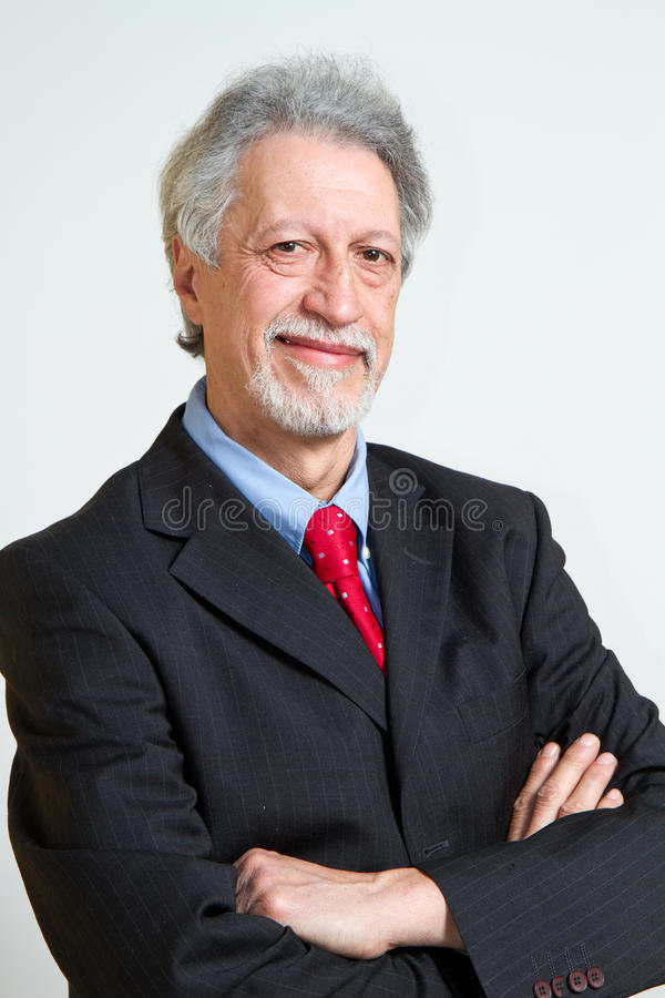 Hombre de negocios mayor fotografía de archivo libre de regalías