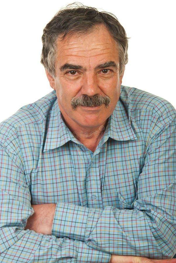 Hombre de negocios mayor feliz imagenes de archivo