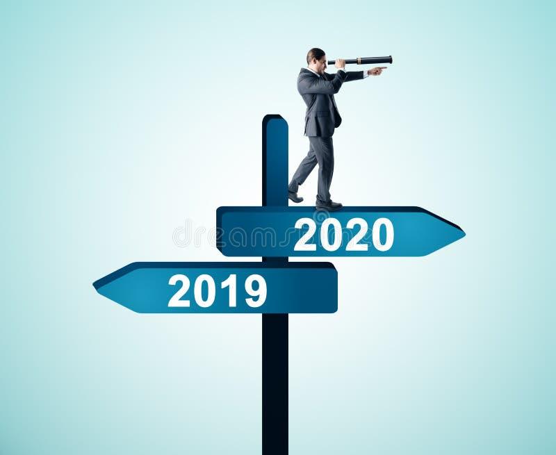 Hombre de negocios 2019, muestra 2020 stock de ilustración